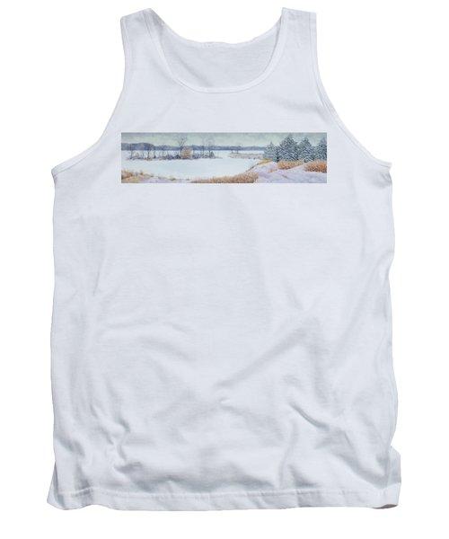 Winter Lake And Cedars Tank Top