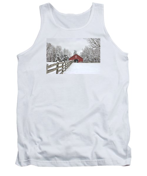 Winter On The Farm Tank Top by Benanne Stiens