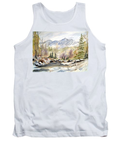 Winter On The River Tank Top