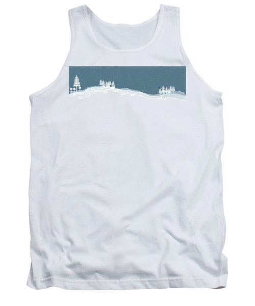 Winter Pines Tank Top by Kevin McLaughlin