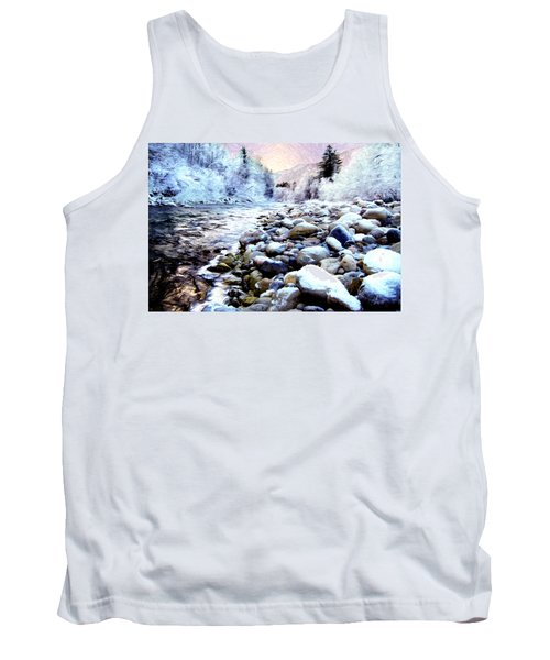 Winter River Tank Top by Sabine Jacobs