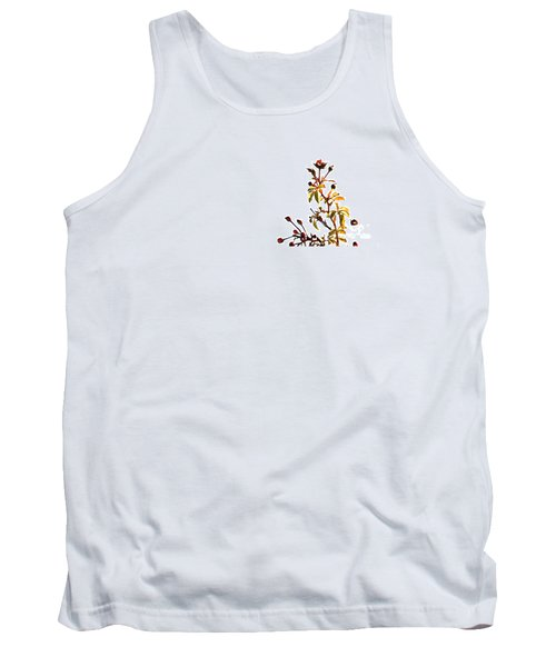 Tank Top featuring the photograph Winter Rose by Linda Shafer