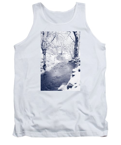 Tank Top featuring the photograph Winter Stream by Liz Leyden