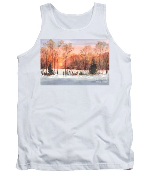 A Hedgerow Sunset Tank Top by Carol Wisniewski