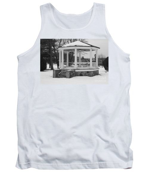 Tank Top featuring the photograph Winter Time Gazebo by John Telfer