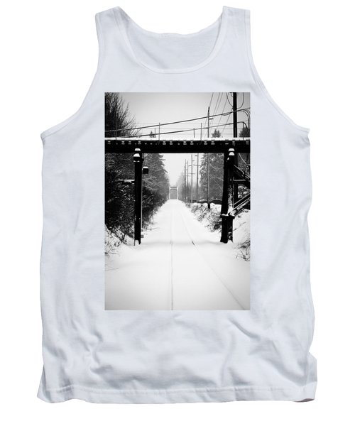 Aaron Lee Berg Tank Top featuring the photograph Winter Tracks by Aaron Berg