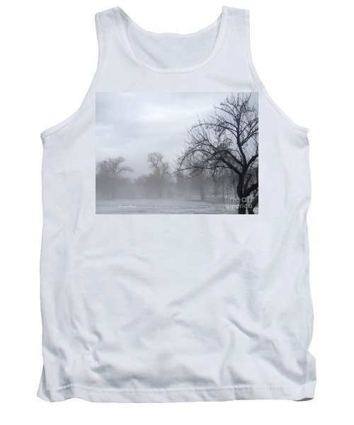 Tank Top featuring the photograph Winter Trees With Mist by Jeannie Rhode