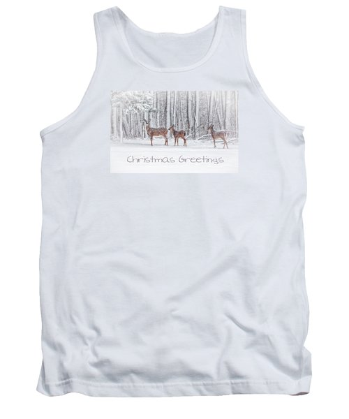 Winter Visits Card Tank Top
