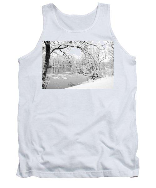 Winter Wonderland In Black And White Tank Top