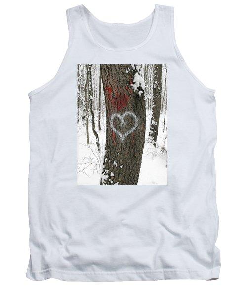 Winter Woods Romance Tank Top by Ann Horn