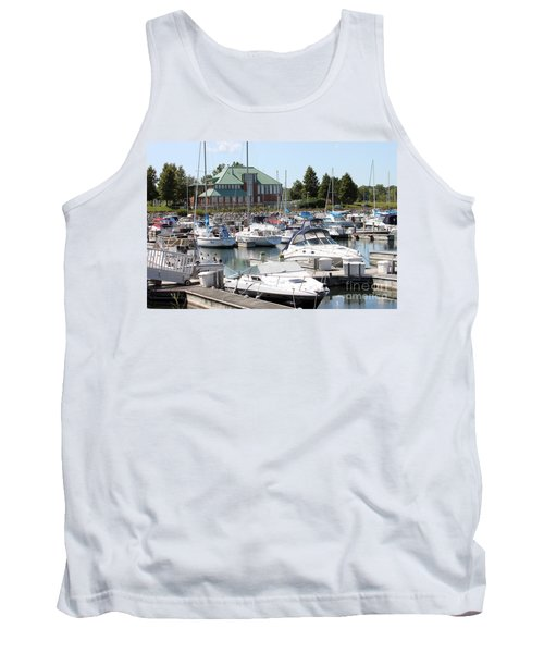 Tank Top featuring the photograph Winthrop Harbor by Debbie Hart