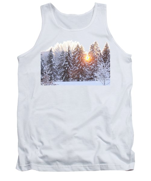 Wintry Sunset Tank Top by Larry Ricker