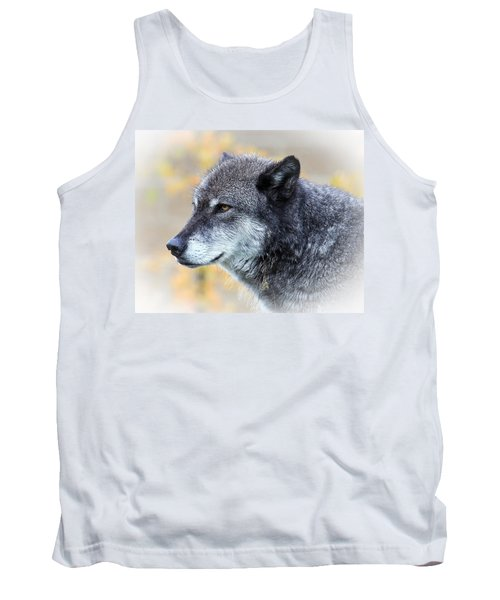 Tank Top featuring the photograph Wolf by Steve McKinzie