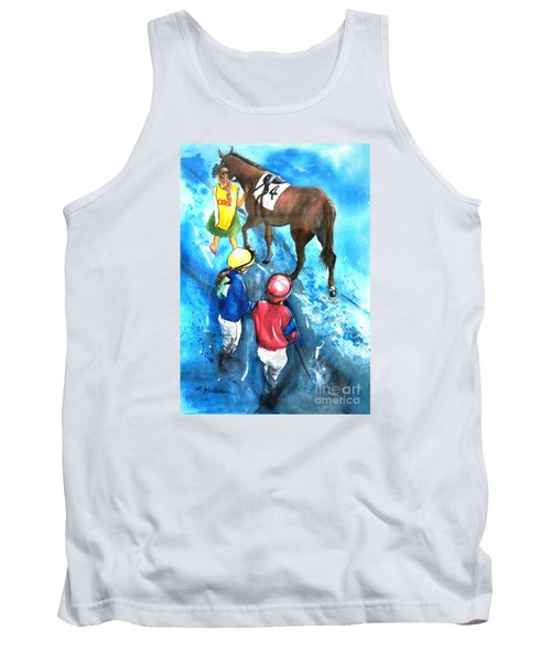 Tank Top featuring the painting Giddy Up Girls by Therese Alcorn