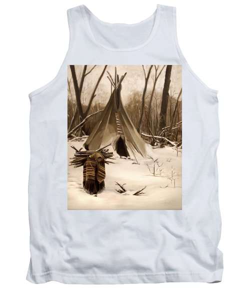 Wood Gatherer Tank Top by Nancy Griswold