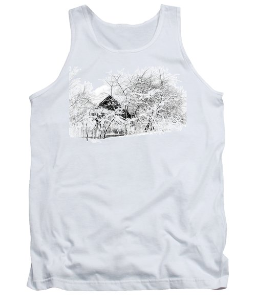 Wooden House After Heavy Snowfall. Russia Tank Top