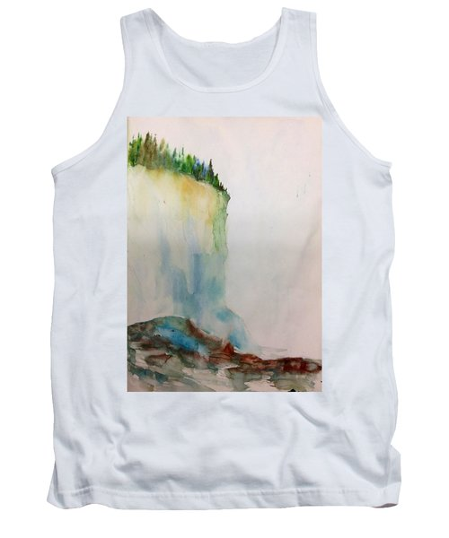 Woodland Trees On A Cliff Edge Tank Top
