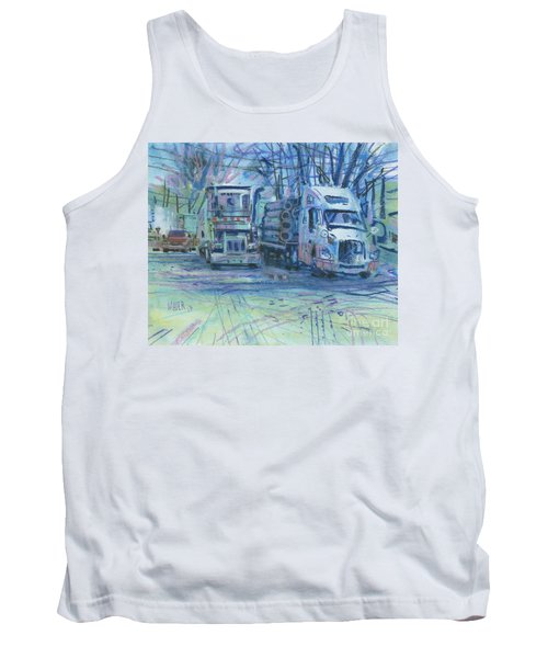Tank Top featuring the painting Work Buddies by Donald Maier
