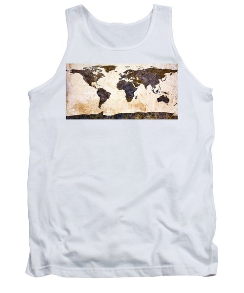 World Map Abstract Tank Top