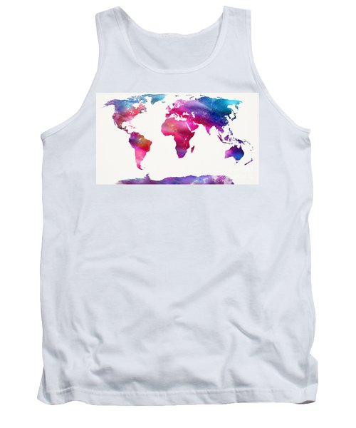 World Map Light  Tank Top by Mike Maher