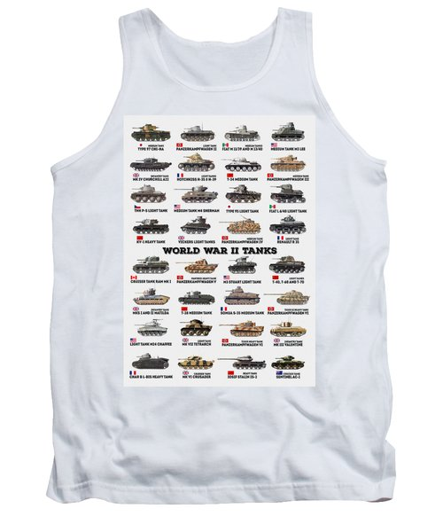 World War II Tanks Tank Top
