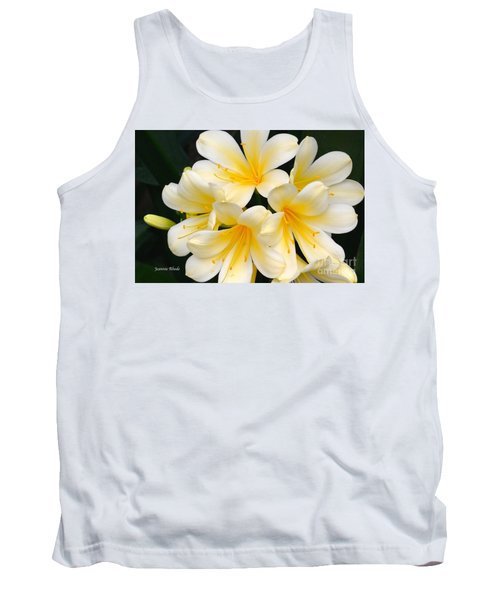 Tank Top featuring the photograph Clivia Yellow Flowers by Jeannie Rhode