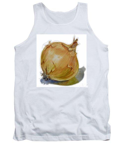 Yellow Onion Tank Top by Irina Sztukowski
