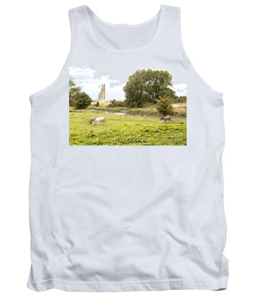 Yellow Steeple Amidst Meath Ireland Tank Top