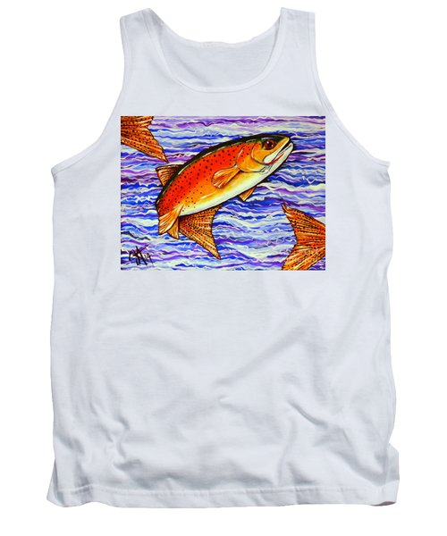 Yellowstone Cutthroat Tank Top by Jackie Carpenter