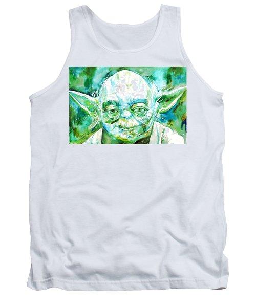Yoda Watercolor Portrait Tank Top