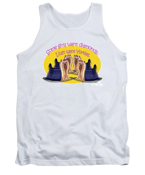 Yorkies Are A Girls Best Friends Tank Top by Catia Cho