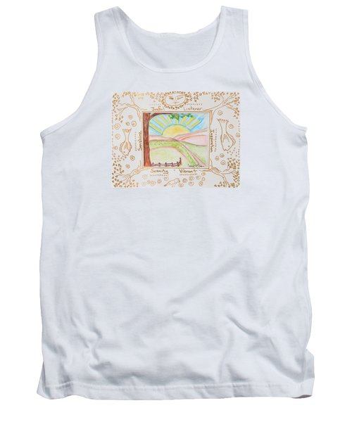 Tank Top featuring the painting You Are My Sunshine by Cassie Sears
