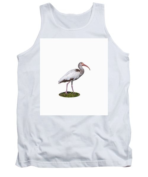 Tank Top featuring the photograph Young Ibis Gazing Upwards by John M Bailey