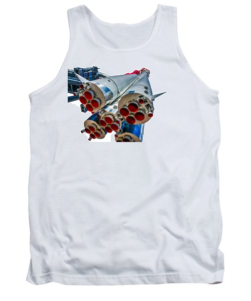 Yuri Gagarin's Spacecraft Vostok-1 - 5 Tank Top by Alexander Senin