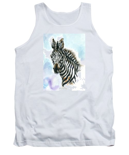 Zebra 1 Tank Top by Mary Armstrong