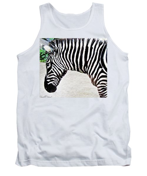 Zebra Alcohol Inks  Tank Top by Danielle  Parent