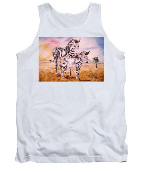 Zebra And Foal Tank Top