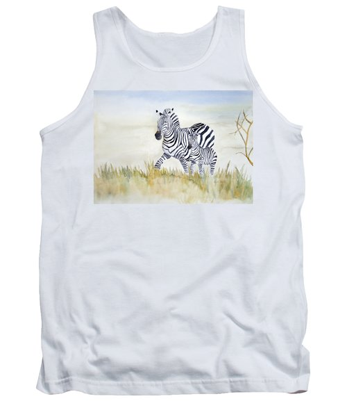Zebra Family Tank Top by Laurel Best