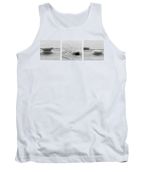 Zen Black And White Triptych Tank Top