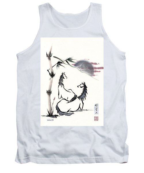 Tank Top featuring the painting Zen Horses Evolution Of Consciousness by Bill Searle