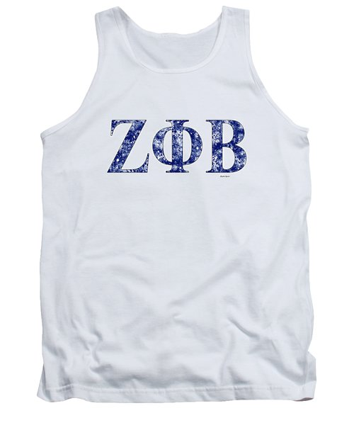 Tank Top featuring the digital art Zeta Phi Beta - White by Stephen Younts