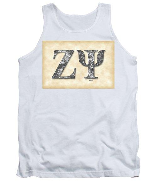 Zeta Psi - Parchment Tank Top