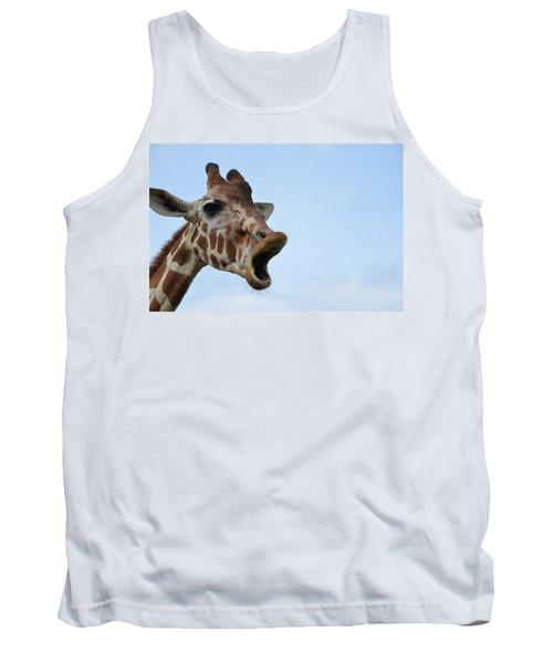 Zootography Giraffe Honking Tank Top