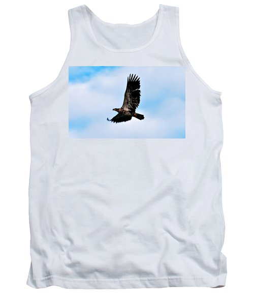 Tank Top featuring the photograph  Juvenile Bald Eagle by Peggy Franz