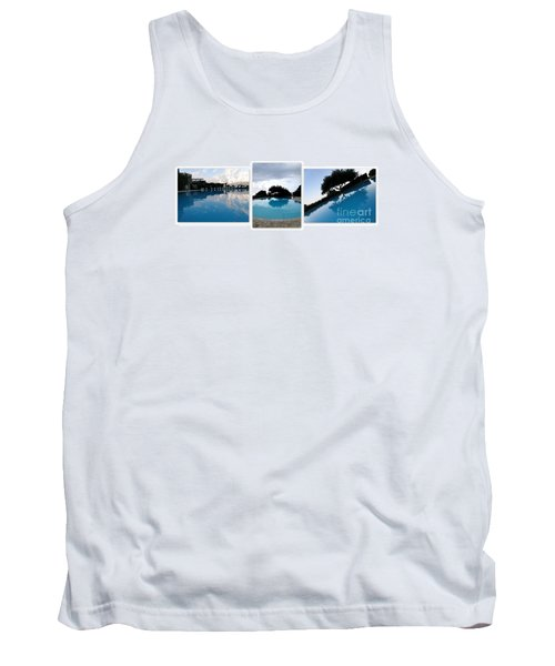 Amalfi Coast Pool Reflections Tank Top by Tanya  Searcy