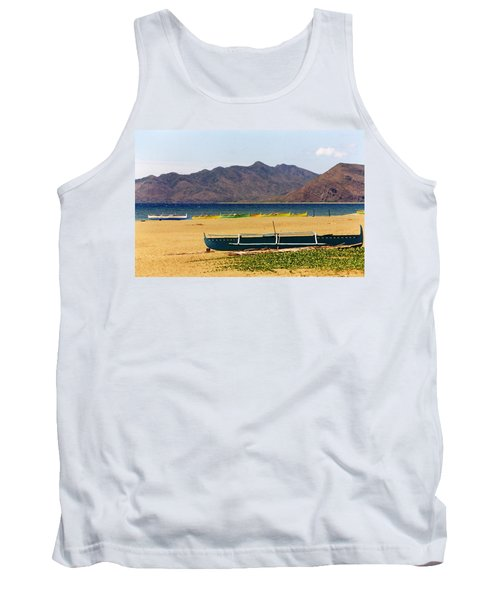 Boats On South China Sea Beach Tank Top