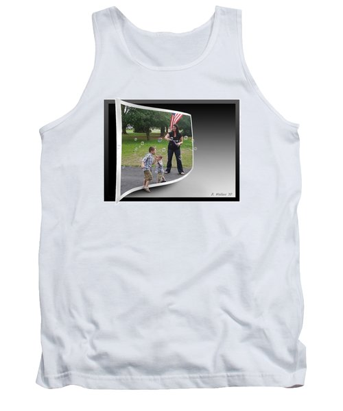 Tank Top featuring the photograph Chasing Bubbles by Brian Wallace