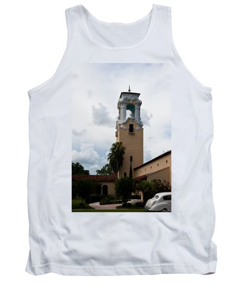 Tank Top featuring the photograph Congregational Church Tower by Ed Gleichman