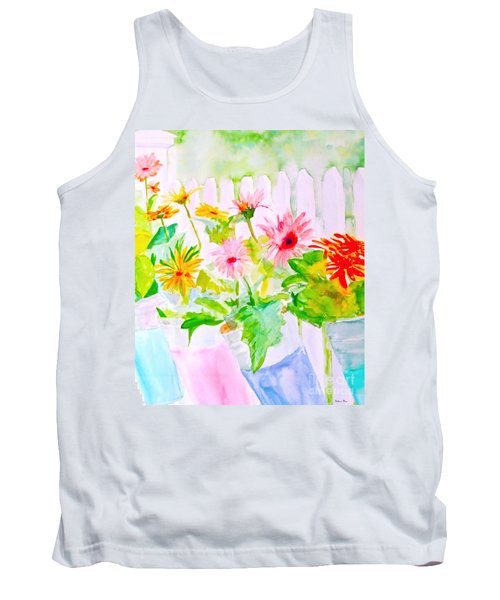 Tank Top featuring the painting Daisy Daisy by Beth Saffer
