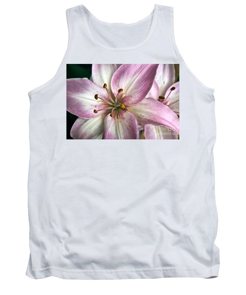 Pink Asiatic Lily Tank Top